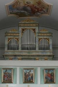 Orgel Filialkirche St. Leonhard in Grünbach (Pfarrei Flossing-St. Johannes d. Täufer)