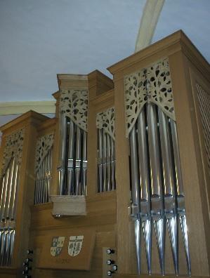 Orgel der Pfarrkirche Hl. Kreuz in Schaftlach