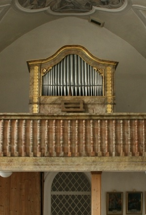 Orgel der Kuratiekirche St. Martin in Ebing im Pfarrverband Waldkraiburg