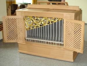 Orgel-Chorpositiv der Pfarrkirche St. Margaret in Markt Schwaben