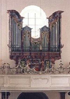 Orgel der Pfarrkirche St. Tertulin in Schlehdorf