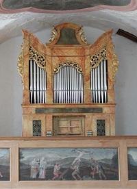 Orgel der Filialkirche St. Maria Magdalena in Baierbach, Pfarrei Stephanskirchen-Haidholzen Maria Königin des Friedens