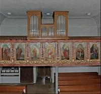 Orgel der Filialkirche St. Nikolaus in Notzing (Pfarrverband Aufkirchen bei Erding)