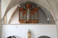 Orgel der Filialkirche St. Leonhard in Greimharting, Pfarrei Prien am Chiemsee-Mariä Himmelfahrt