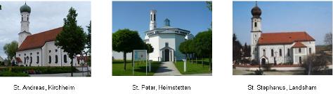 3 Kirchen mit Beschr. quer