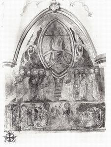 Gothische Wandmalerei Nordwand