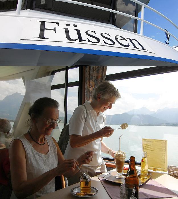 An Bord auf der MS Füssen am Forggensee