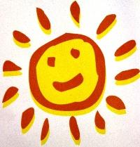 Türbild Sonne