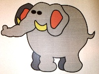Türbild Elefant