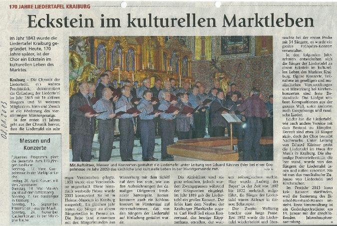 Zeitung zur JHV 2013