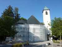 Kirche eingerüstet