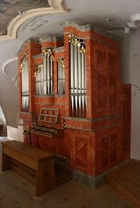 Orgel der Pfarrkirche St. Jakob in Willing bei Bad Aibling