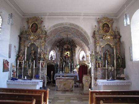Kirche Weißenfeld innen