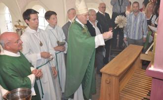 Weihe Bischof Dietl auf der Empore