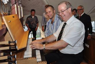 Abnahme Orgel durch Kiechle