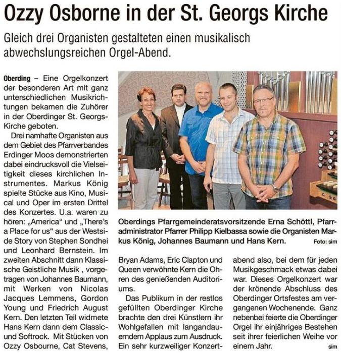 Presseartikel Hallo Erding vom 08.07.2015
