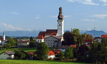 Schnaitsee mit Alpen