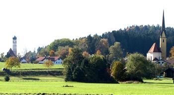 Kirchloibersdorf m St Leonhard Landschaft