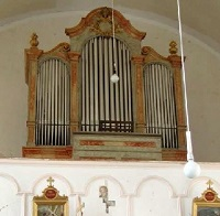Orgel der Filialkirche St. Bartholomäus in Hinterauerbach, Pfarrei Wartenberg
