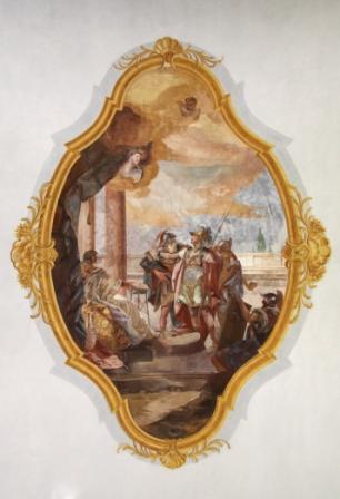 Deckengemälde - St. Florian beim Verhör