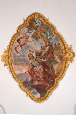 Deckengemälde - St. Florian beim Martyrium