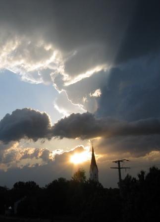 Himmel über Fraunberg öffnet sich!