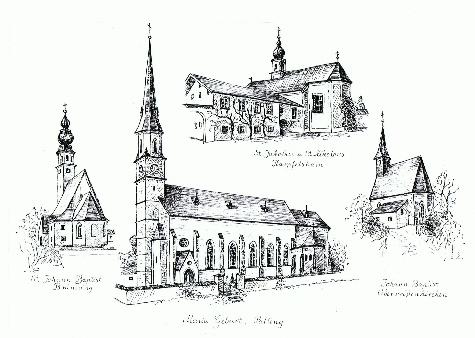 Übersicht Kirchen Pfarrei Palling von Elisabeth Reinmiedl