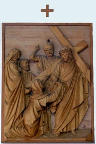 6. Station - Veronika reicht Jesus das Schweißtuch Pfarkirche Palling