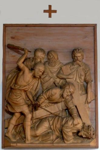 9. Station - Jesus fällt zum 3. Mal unter dem Kreuz Pfarrkirche Palling