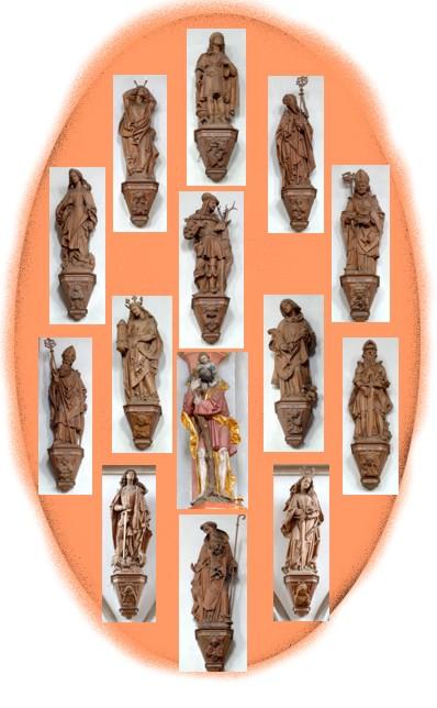 14 Nothelfer Übersicht Pfarrkirche Palling