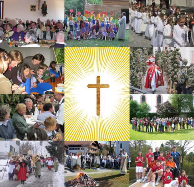Collage Seite lebendige Pfarrgemeinde