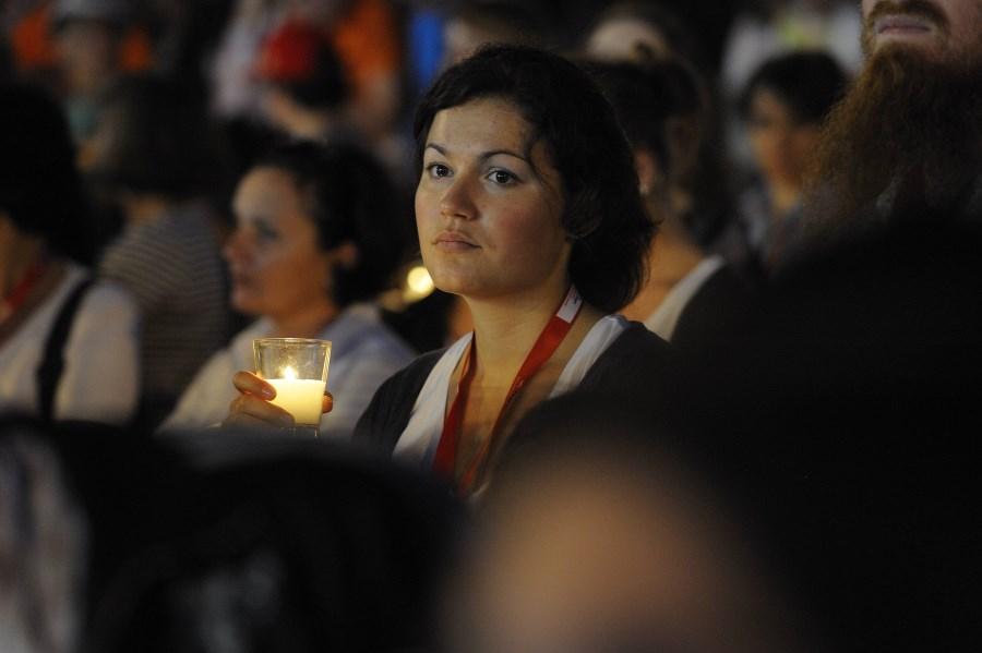Gebetsvigil beim Papstbesuch in Freiburg, 24.9.2011