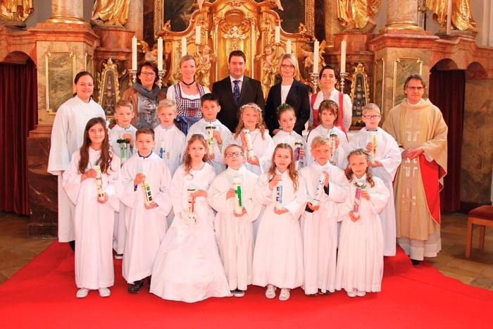 Gruppenbild Erstkommunion 2016