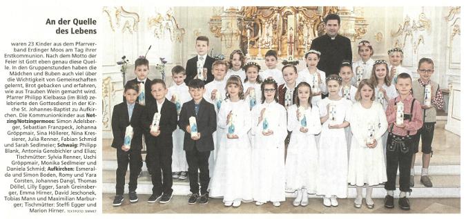 Erstkommunion Aufkirchen Notzing Schwaig