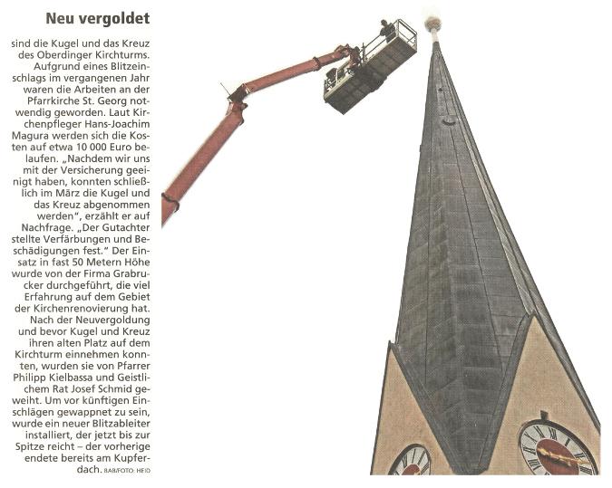 Kirchenturmkreuz Oberding