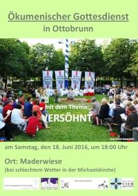 Plakat für den Ökumenischen Gottesdienst 2016