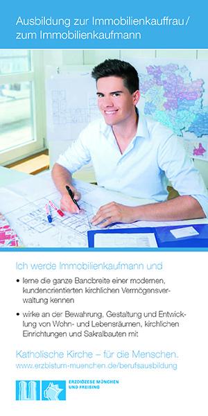 Vorderseite EOM Flyer Ausbildung Immobilienkauffrau-mann