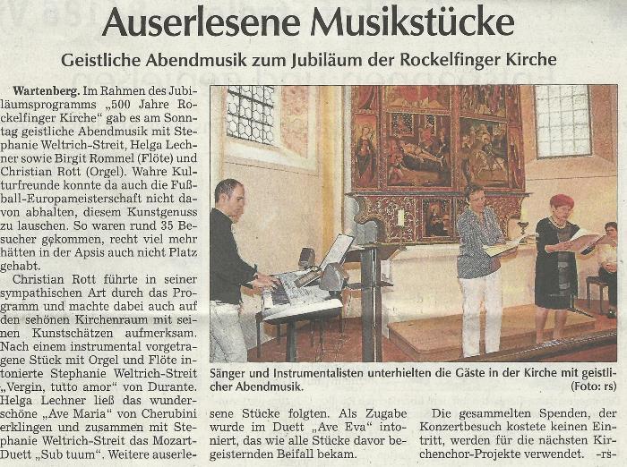 Artikel Moosburger Zeitung vom 30.06.2016