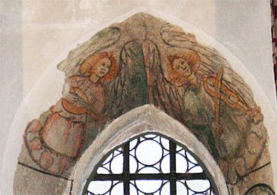 St. Ägidius, Fresko: musizierende Engel