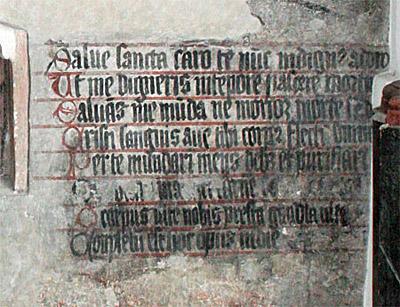 St. Ägidius, Fresko: Sakramentshymnus