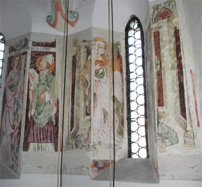 Leonhardikirche, Fresken