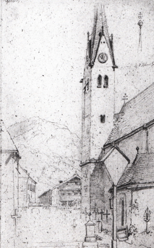 Carl_Spitzweg_-_Kirche_in_Rottach-Egern_am_Tegernsee