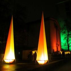 Leuchtpyramiden am Andreasmarkt