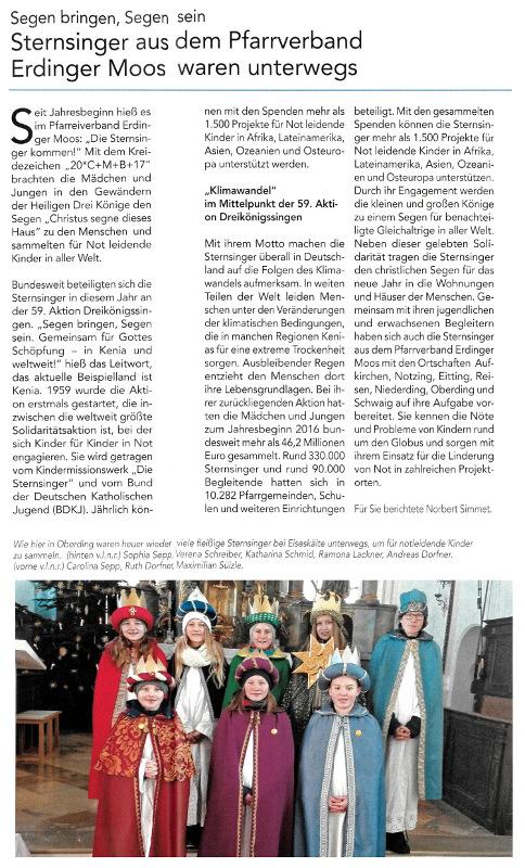 2017-01-13_Pressebericht_Sternsinger_PV_Oberdinger_Kurier_03