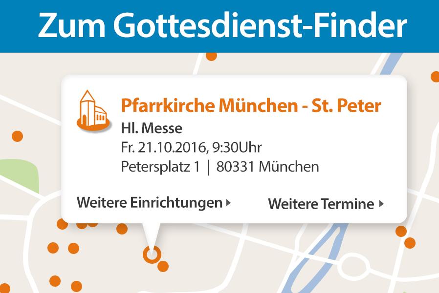 Gottesdienste im Erzbistum München und Freising: Map und Karte