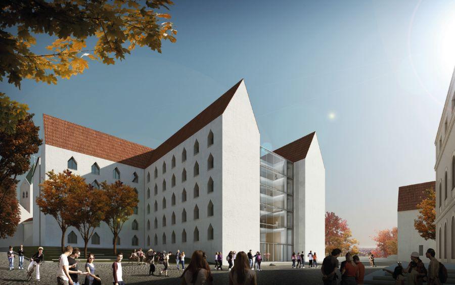 1. Preis_Perspektive zwischen Museum und Neubau KDH