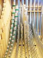 Orgelpfeifen des Hauptwerks in Heilig Kreuz Dachau