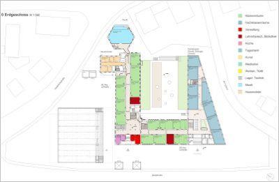 St.-Irmengard-Schulen Garmisch, Erdgeschoss