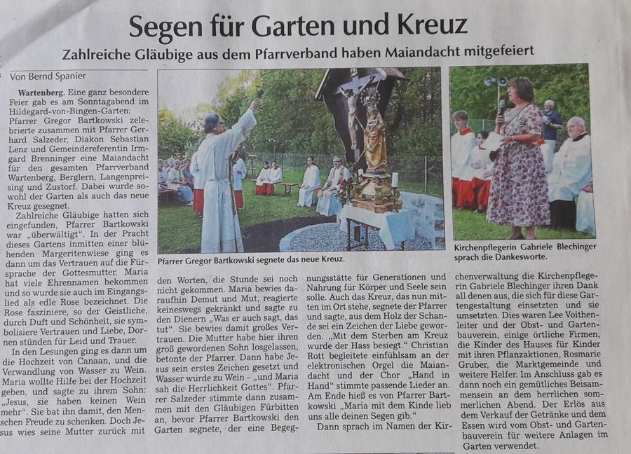 Einweihung Hildegard-von-Bingen-Garten in Wartenberg