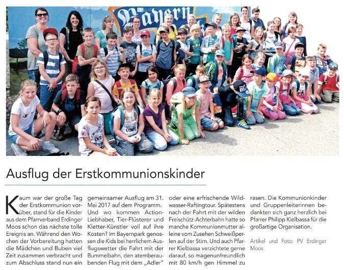 2017-06-16_Pressebericht_Ausflug_Erstkommunionskinder_PV_Oberdinger_Kurier_04